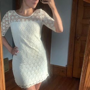 Abercrombie & Fitch White Lace Dress